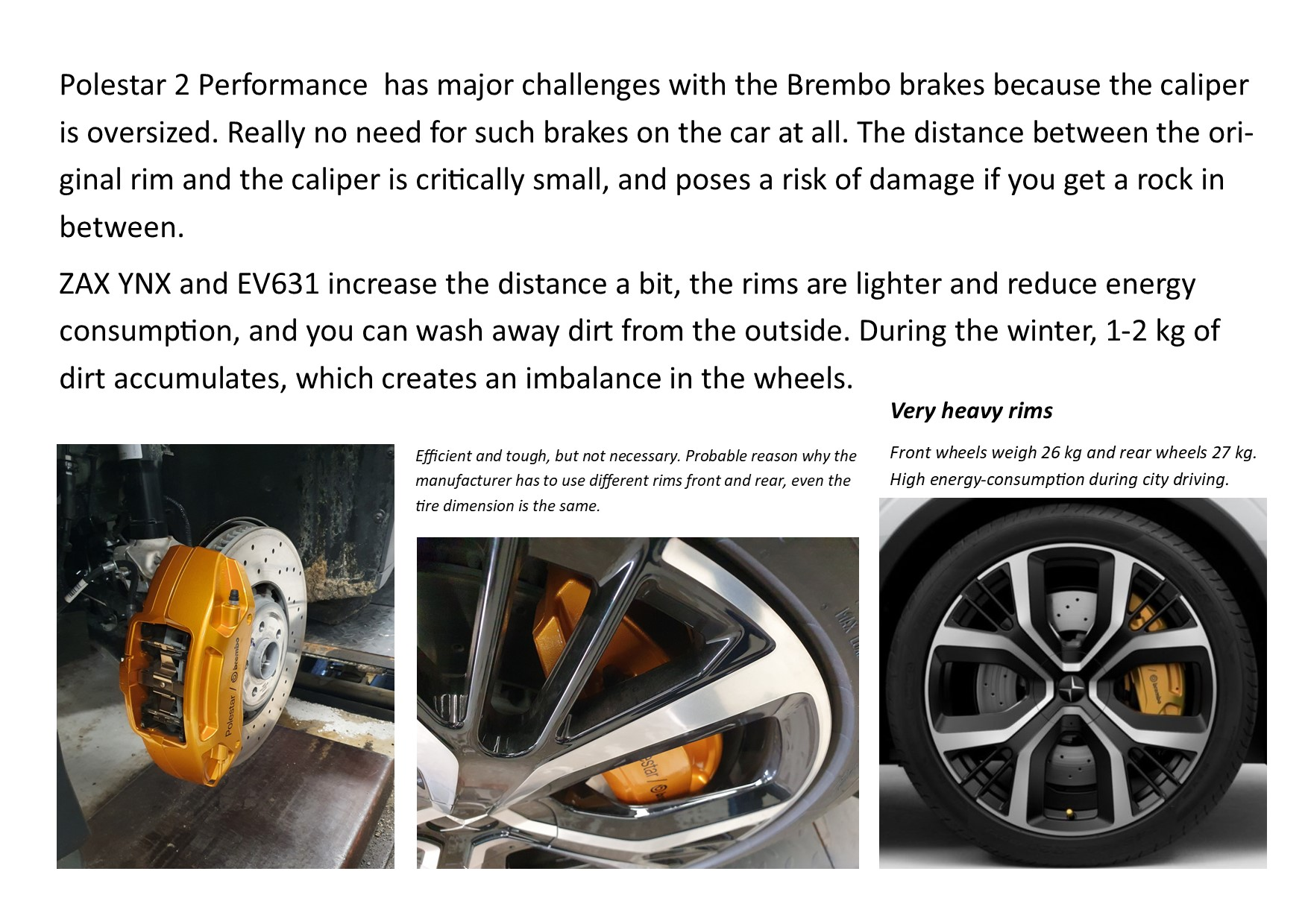 Polestar 2 Performance wheel challenges