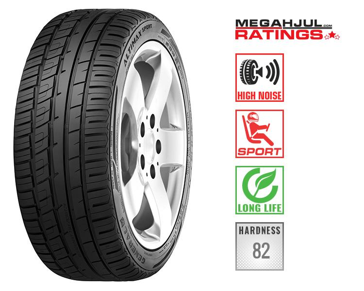 245/45R19 GENERAL ALTIMAX SPORT 98Y -SLITESTYRKE 340