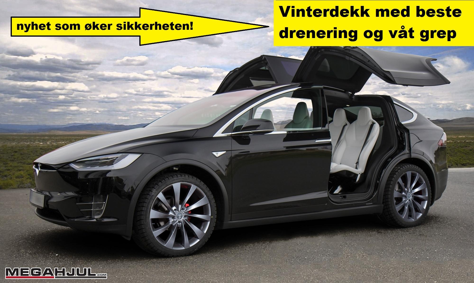 PH turbin2 felger til Tesla Model X med vinterdekk